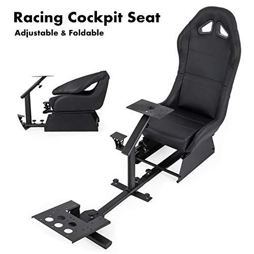 vevor driving simulator gaming chair adjustable and. Black Bedroom Furniture Sets. Home Design Ideas