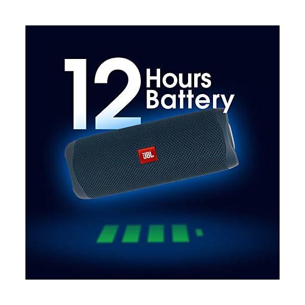 JBL Flip 5 Enceinte Bluetooth Portable avec Batterie Rechargeable, Étanche, Compatible Siri et Google, Bleu 3