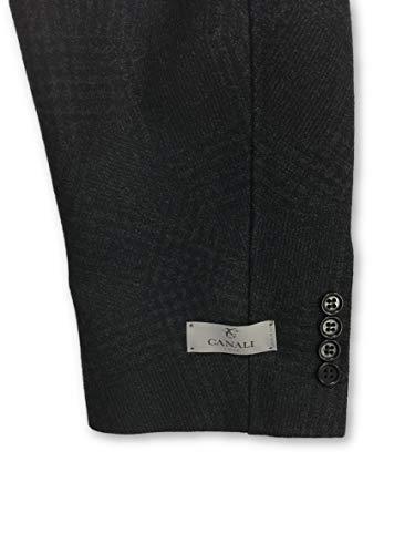 In Outerwear 46r Charcoal black Canali Pattern Plaid Cut 15qx7ndw