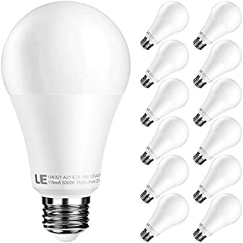 12-Pck. Lighting EVER 15W A21 E26 LED Bulbs
