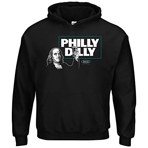 (Philadelphia Football Fans. Philly Dilly T-Shirt (Sm-5X) (Black Hoodie, Small))