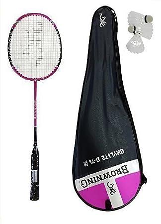 6d18661cc3a Browning Oxylite Nano Ti 75 Pink Badminton racket + 3 x shuttles  Amazon.co. uk  Sports   Outdoors