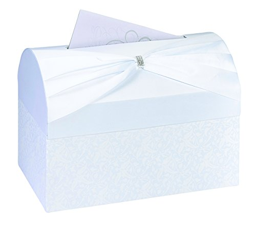 Lillian Rose Card Box, 11.75-Inch, White