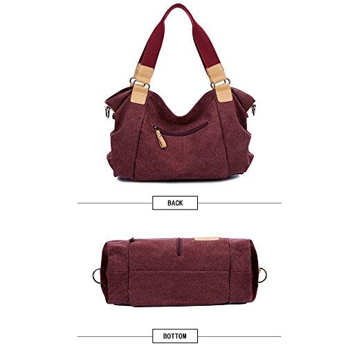 Handle Messenger Handbags for Hobo Top Handbags Crossbody Shoulder Women LWK 327 Brown Womens Bags Canvas Tote 5YvfYwqA