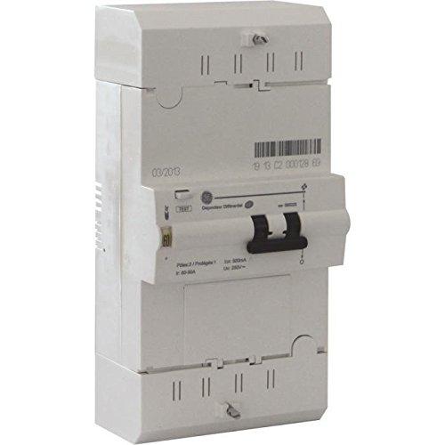 GE AUN585025 Disjoncteur de branchement diffé rentiel 500 mA, Blanc GE POWERS CONTROLS France