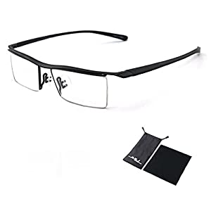 Sports Computer Glasses Readers Reading Video Gaming Glasses of Anti Blue Light Eye Strain Men Tr90 Titanium Myopia Glasses Frame Slip-resistant Eyeglasses 8189