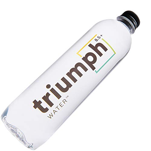 (Triumph Alkaline Water 8.5+ pH (12 Pack) | Fresh, Pure, Naturally Ionized High pH Spring Water | Alkalized with Real Minerals and Ions | 16.9 FL Oz Bottles)