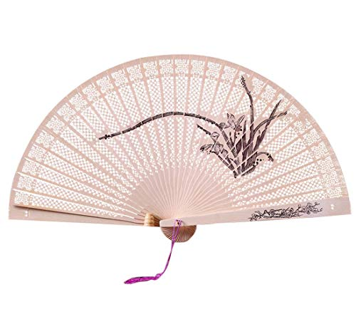 JJLIKER Folding Fan Handheld Chinese Sandalwood Scented Hand Held Fold Fans Summer Cool for Wedding Home Decoration, Birthday, Christmas Gift - G-force Table Cover