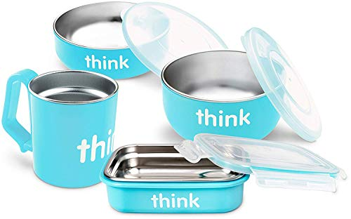 thinkbaby The Complete BPA Free Feeding Set, Light Blue