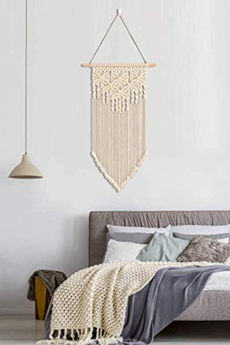 Ossier Macrame Wall Hanging Woven Boho Chic Wall Decor, Wall Hanging Decor for Apartment, Dorm Room, Party Decorations, Home Decoration, 16\
