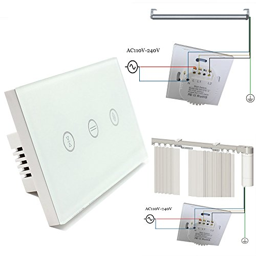 US Type Wifi Smart Curtain Motor Switch APP or Voice Control by Alexa Echo AC110 to 240V Work with Electric Roller Blinds Curtains Motor with Control Wires Home Automation IFTTT by zemismart (Image #1)