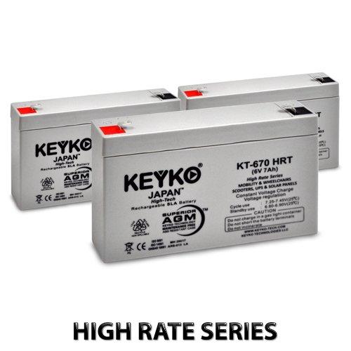 6V 7Ah / Real 7.8Ah Deep Cycle AGM / SLA Battery for Whee...