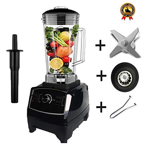 Bpa Free 2200W Heavy Duty Commercial Blender Professional Blender Mixer Food Processor Japan Blade Juicer Ice Smoothie Machine,Black Full Parts,Uk Plug (Best Smoothie Maker Uk)