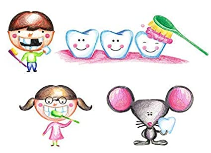 Dental Office Decorations For Kids Wall Decal Stickers Pediatric Dental  Supplies Decor Vinyl Set Of 4