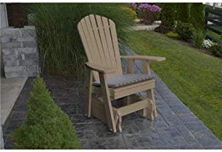 product image for Poly 2 Ft Single Adirondack Glider Chair - Weatherwood