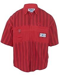 Half Sleeve Trendy Black Stripes Button Up Shirt Mens