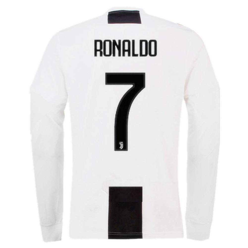 new product 9173e bc710 Ronaldo 7 Juventus Home Men's Long Sleeve Soccer Jersey 2018/2019 Season