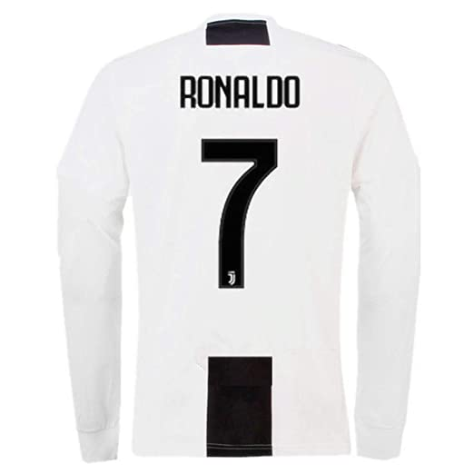 new product 972d0 615ad Ronaldo 7 Juventus Home Men's Long Sleeve Soccer Jersey 2018/2019 Season