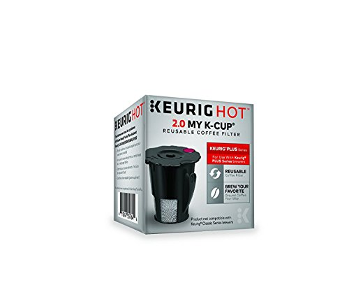 Keurig 2.0 My K-Cup Reusable Ground Coffee Filter, Compatible with All  2.0 Keurig K-Cup Pod Coffee Makers Dishwasher Safe Coffee Maker