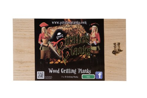 Pirate's Planks Grilling Planks- Oak (4 pack) 3/8x7x13 by Pirates Planks