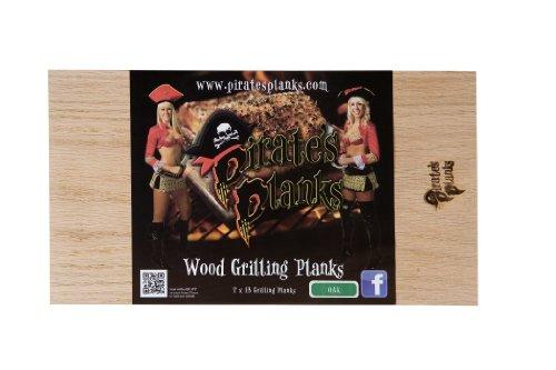 Pirate's Planks Grilling Planks- Oak (4 pack) 3/8x7x13 Alder Outdoor Side Table