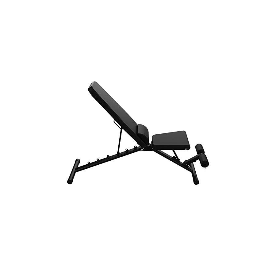 JUFIT Sit Up Bench Foldable Fitness Training Weight Bench for Full Body Workout, Adjustable Workout Bench