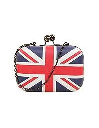Tinksky British Flag Woman Crossbody Shoulder Bag Chain Bag Handbag Evening Party Bag