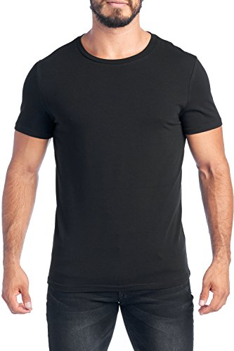 COMMON BASIC Men's Fitted T-Shirts Short Sleeve Round/Crew for sale  Delivered anywhere in USA