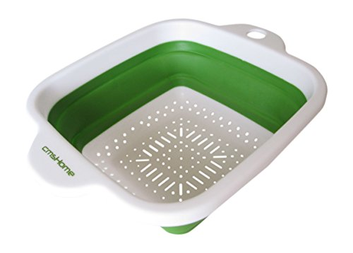 """UPC 716982115938, cmsHome(R) Green 7.5"""" Square Collapsible Strainer Folding Colander Non-Toxic"""