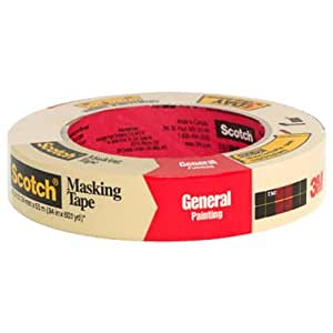 3M Scotch Greener Masking Tape for Performance Painting, 0.94-Inch by 60.1-Yard, 1-Pack