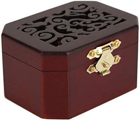 Cajas musicales, Mecanismo tallado en madera Hueco Mecanismo Vintage Octagonal Wind Up Caja de música para Navidad Cumpleaños de San Valentín, El tema del Padrino(Rojo clásico, movimiento dorado): Amazon.es: Hogar