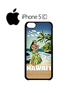 Hawaii Hula Girl Aloha Mobile Cell Phone Case Cover iPhone 5c White