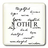 3dRose lsp_47767_2 Mother Words Mothers Day and Every Day for Mom Double Toggle Switch