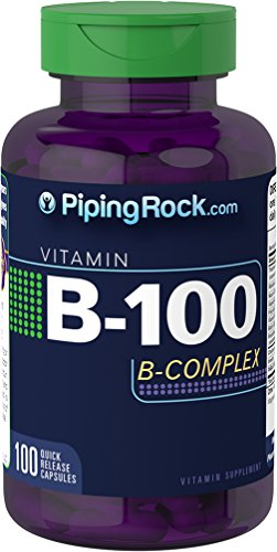 100 Chewable Softgels (Piping Rock B-100 B Complex 100 Quick Release Capsules Vitamin Supplement)