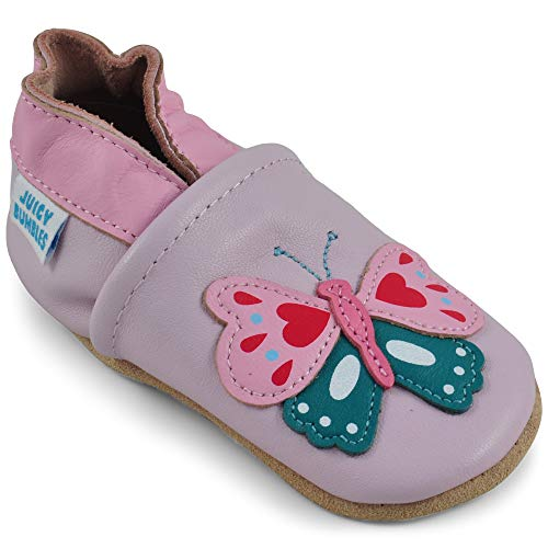Toddler Shoes - Toddler Girl Shoes with Suede Sole - Butterfly - 2-3 Years Old