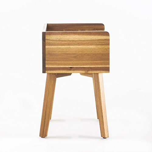 Alanna Natural Stained Acacia Wood Nightstand by GDF Studio (Image #8)