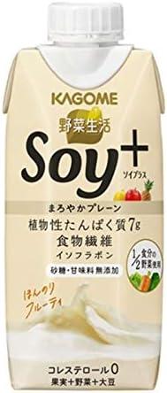 カゴメ 野菜生活 Soy+ まろやかプレーン 330ml 12本 2ケース