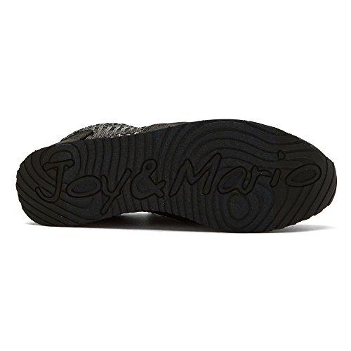 Black Sneakers Joy and Fashion Madera Women's Mario qx4YPSz