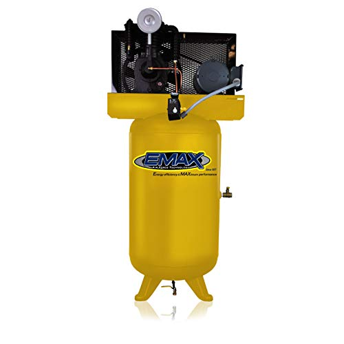 5 HP Air Compressor, 80-Gallon, Vertical, 2-Cylinder, Piston, Industrial Series, Model EI05V080I1 by EMAX Compressor