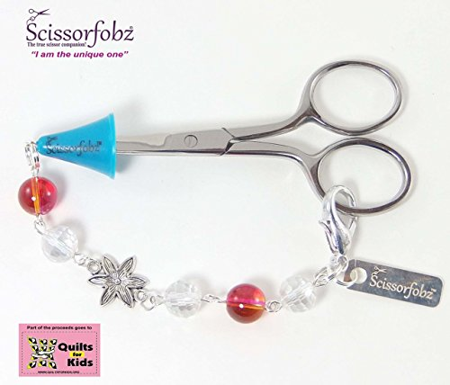 Scissor fobs by SCISSORFOBZ-Elegant Collection-One of a kind- Quilters Sewers Gifts. FREE: Bluetooth ScissorFinder and Beautiful Magnetic Gift Box. #E15000493-F