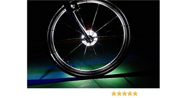 Luces LED Cyborg para rueda de bicicleta, coloridas luces LED ...