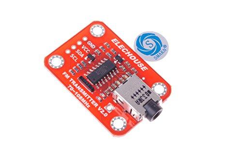 SMAKN FM Transmitter Module V2.0 Digital FM Radio Module For Arduino Microphone Audio