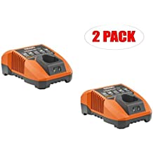 Ridgid Replacement 12V Lithium-Ion Battery Charger (2-PACK) # 140446001-2PK