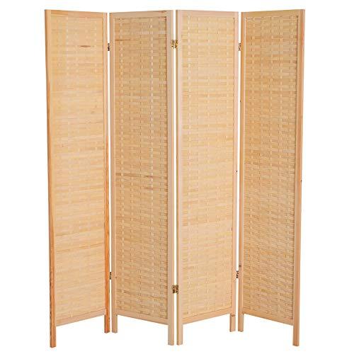 Homco 6' 4-Panel Bamboo Screen Freestanding Room Divider