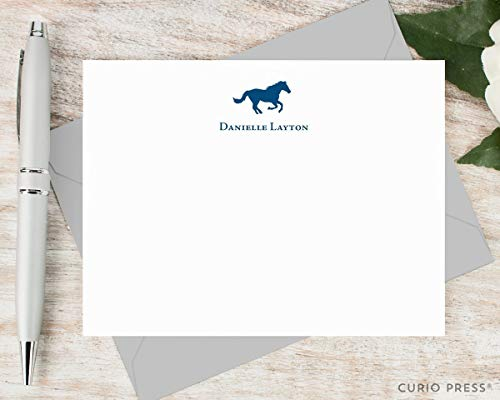 (HORSE - Personalized FLAT Animal Stationery/Stationary Set)