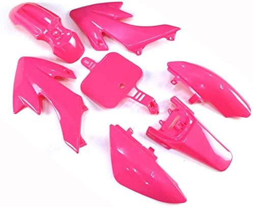 Replacement Pink Plastic Fender Fairing Kit Set for Bikes Compatible with Honda CRF50 XR50 CRF XR 50 and their Replicas Chinese Mini Dirt Bikes