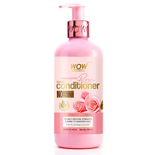 WOW Skin Science Himalayan Rose Conditioner With Rose Hydrosol, Coconut Oil, Almond Oil & Argan Oil – For Volumnising…