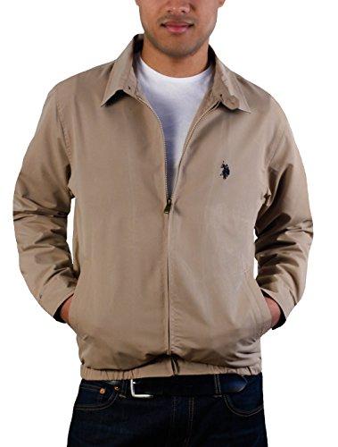 - U.S. Polo Assn.. Men's Small Logo Golf Jacket, Desert Khaki-GHGD, XL