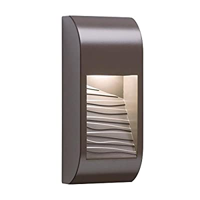 """Elan Lighting 83566 Movo - 14"""" 10W 1 LED Outdoor Wall Sconce, Architectural Bronze Finish"""