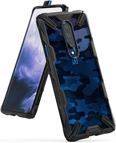 Ringke Fusion X Design DDP Compatible with OnePlus 7 Pro Case Protection Cover (6.7) 2019 - Camo Black